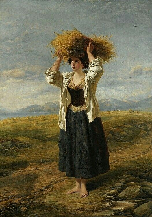 """""""The Little Gleaner"""", 1850 Painting by William Powell Frith,  English, 1819 - 1909"""