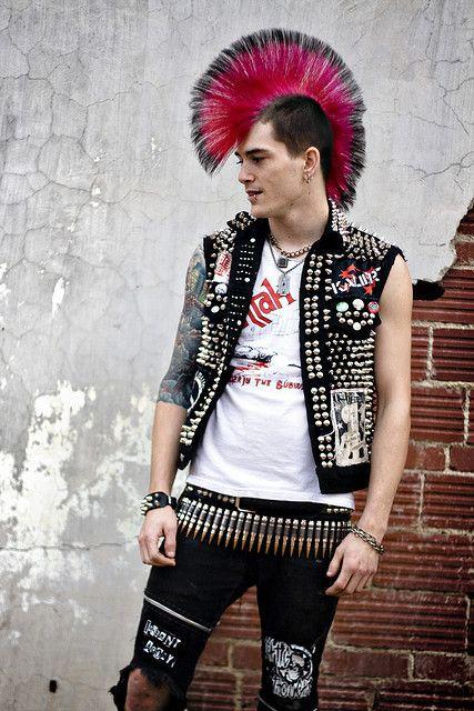 Goth emo punk pierced tattooed thumbs