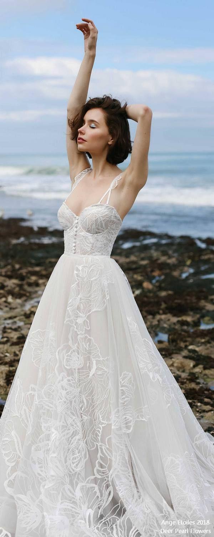 Larein sweetheart lace wedding dresses