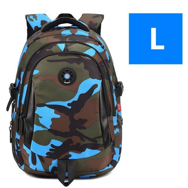 abca25606e SML 3Sizes Camouflage Waterproof Nylon Children School Bags Boys Girls  Orthopedic Schoolbag Backpack Kids Bag mochila infantil