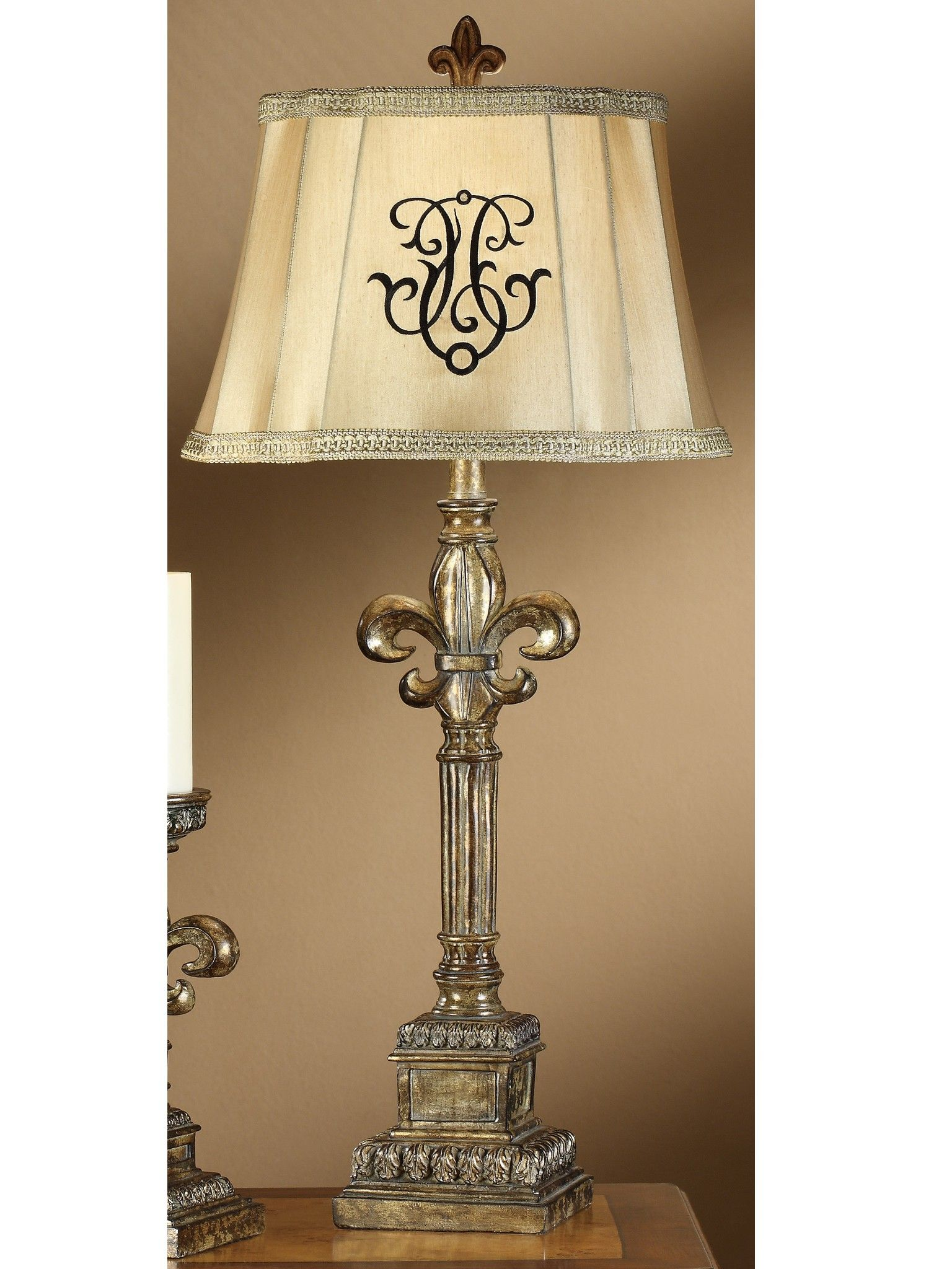 Fleur De Lis Lamp Lamp Table Lamp Buffet Table Lamps