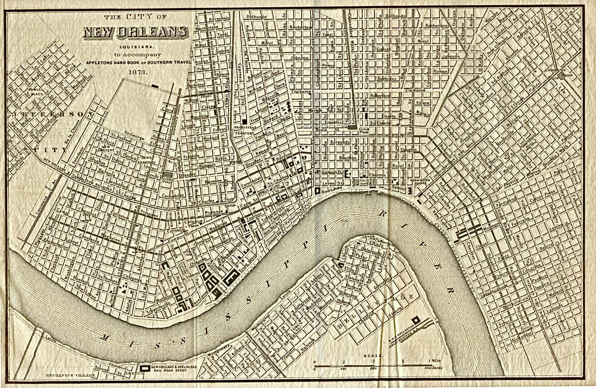 vintage new orleans map Greater New Orleans Area Map Louisiana Maps Perry Castaneda vintage new orleans map