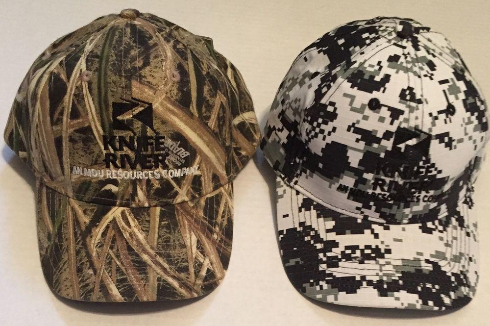 f07dab1d9 Knife River Hat Lot An MDU Resources Company Camo Hunting North Dakota  Division #BaseballCap