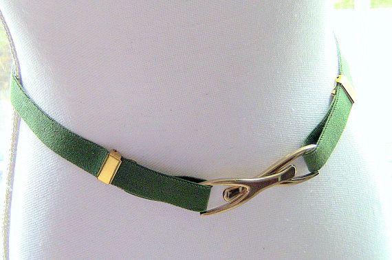 Olive Green Adjustable Elastic Belt Stretch Belt Adjustable