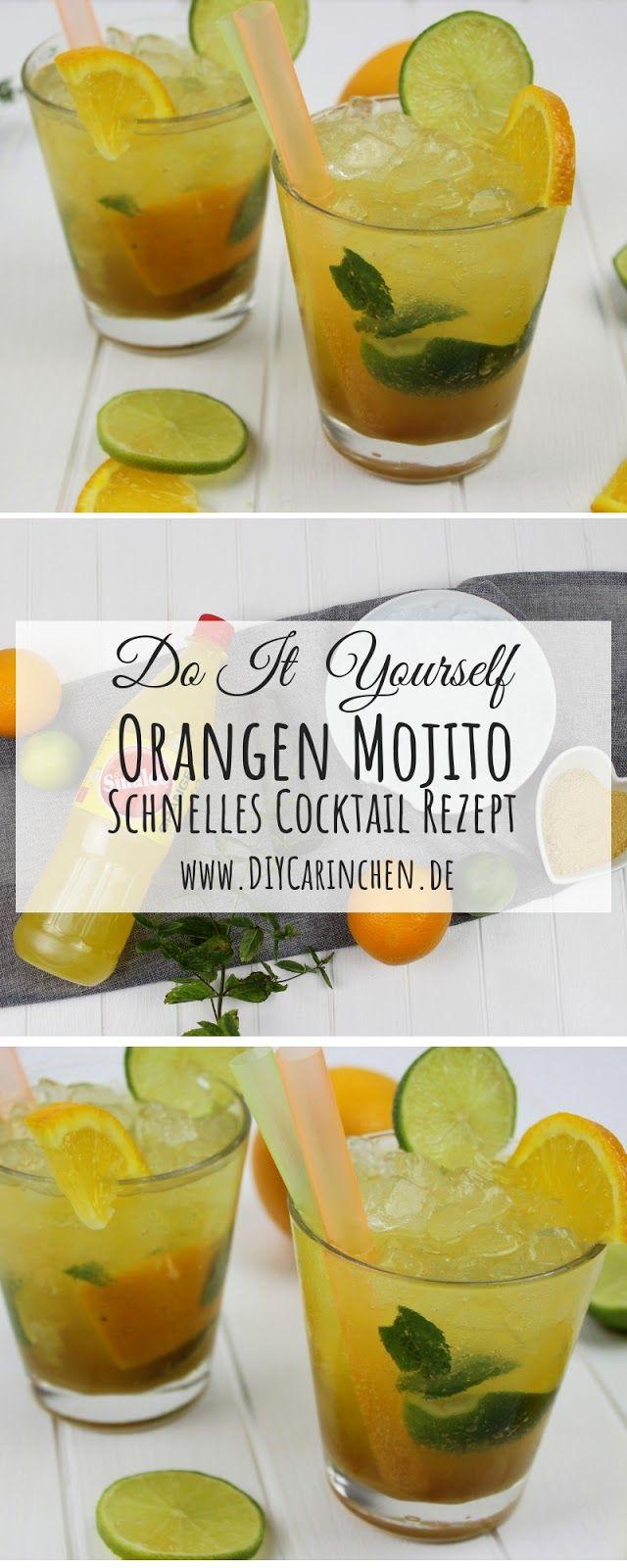 Einfaches Rezept: Super leckerer Orangen Mojito Cocktail schnell gemacht #nonalcoholicbeverages
