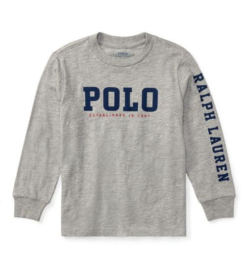 cb219550d Baby Ralph Lauren Graphic T Shirts Authentic Grey | Baby Top | Polo ...