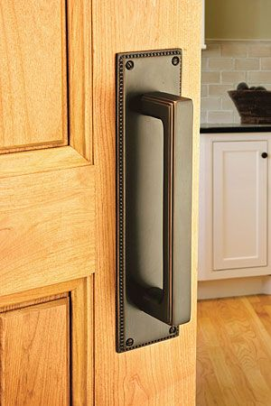 Accentuate Swinging Doorways With The Wilshire Pull Plate In Oil Rubbed Bronze By Emtek