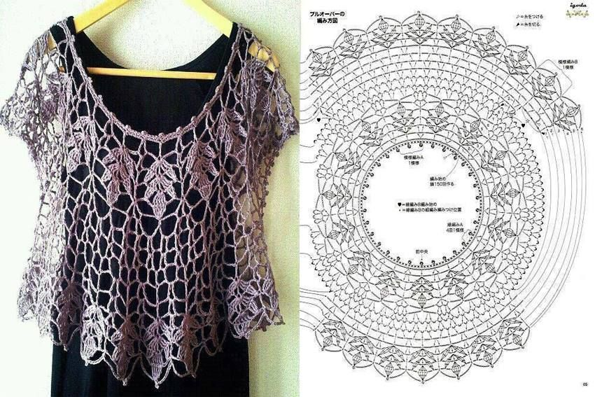 A Blouse | haak en breiwerk | Crochet, Crochet patterns, Crochet clothes