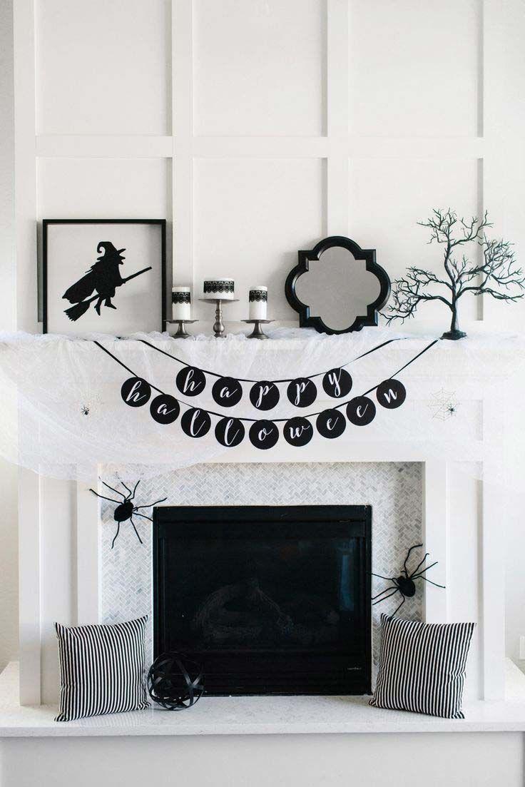 Scary  Stylish Glamorous Halloween Decor Scary and Halloween ideas - black and white halloween decorations