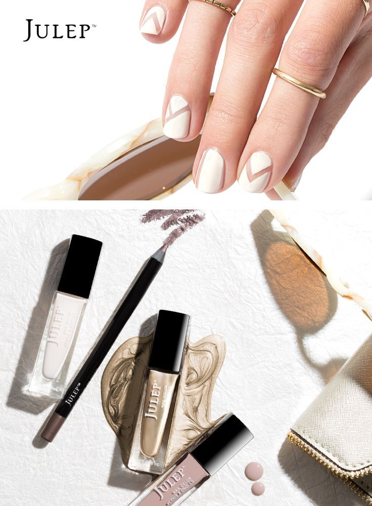 Our coolest neutral nail look during the heat of the summer! Snag ...