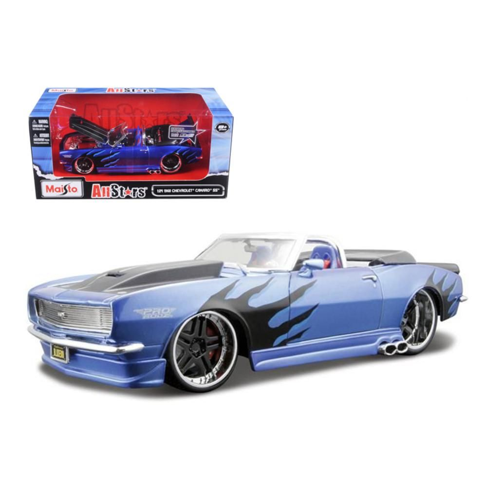 1968 Chevrolet Camaro Ss Convertible Blue Pro Rodz 1 24 Diecast Model Car