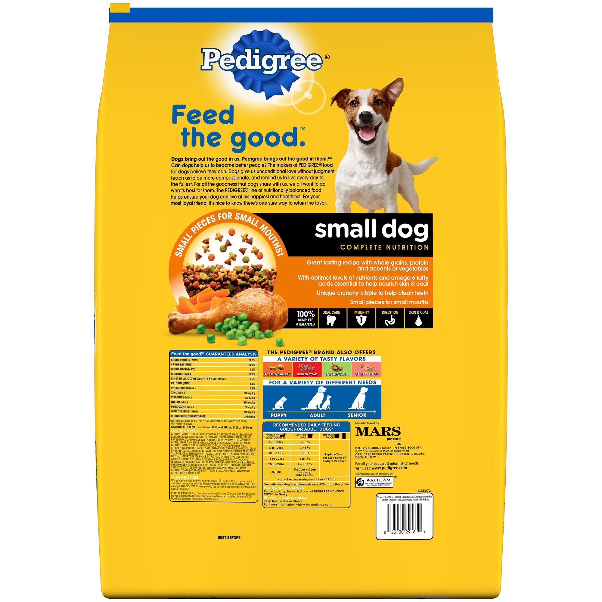 Pedigree Small Dog Adult Complete Nutrition Roasted Chicken Rice