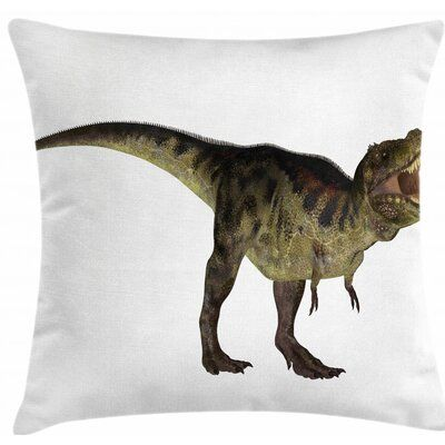 East Urban Home Indoor / Outdoor 28 Throw Pillow Cover #dinosaurillustration