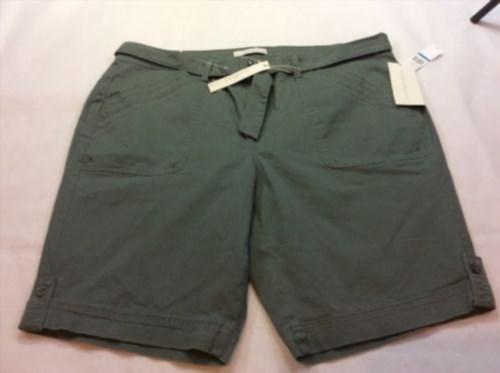 18.03$  Buy now - http://vicyd.justgood.pw/vig/item.php?t=snj3za0418 - Gloria Vanderbilt Shorts Khaki Unltd. Sierra Size 18w Green Sweet Basil 1026467 18.03$