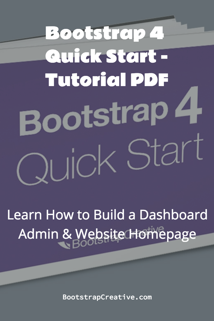 bootstrap 4 quick start (ebook) learning responsive web design for