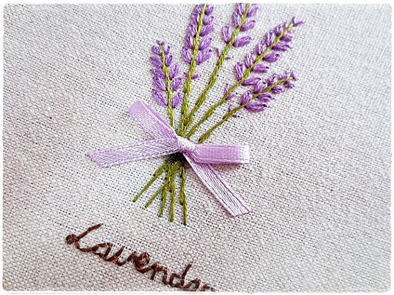 Hand Embroidery In Hoop Embroidery Wall Art Lavender Flower Bouquet Simple Embroidery Ribbon Embroidery Kit Hand Embroidery Tutorial