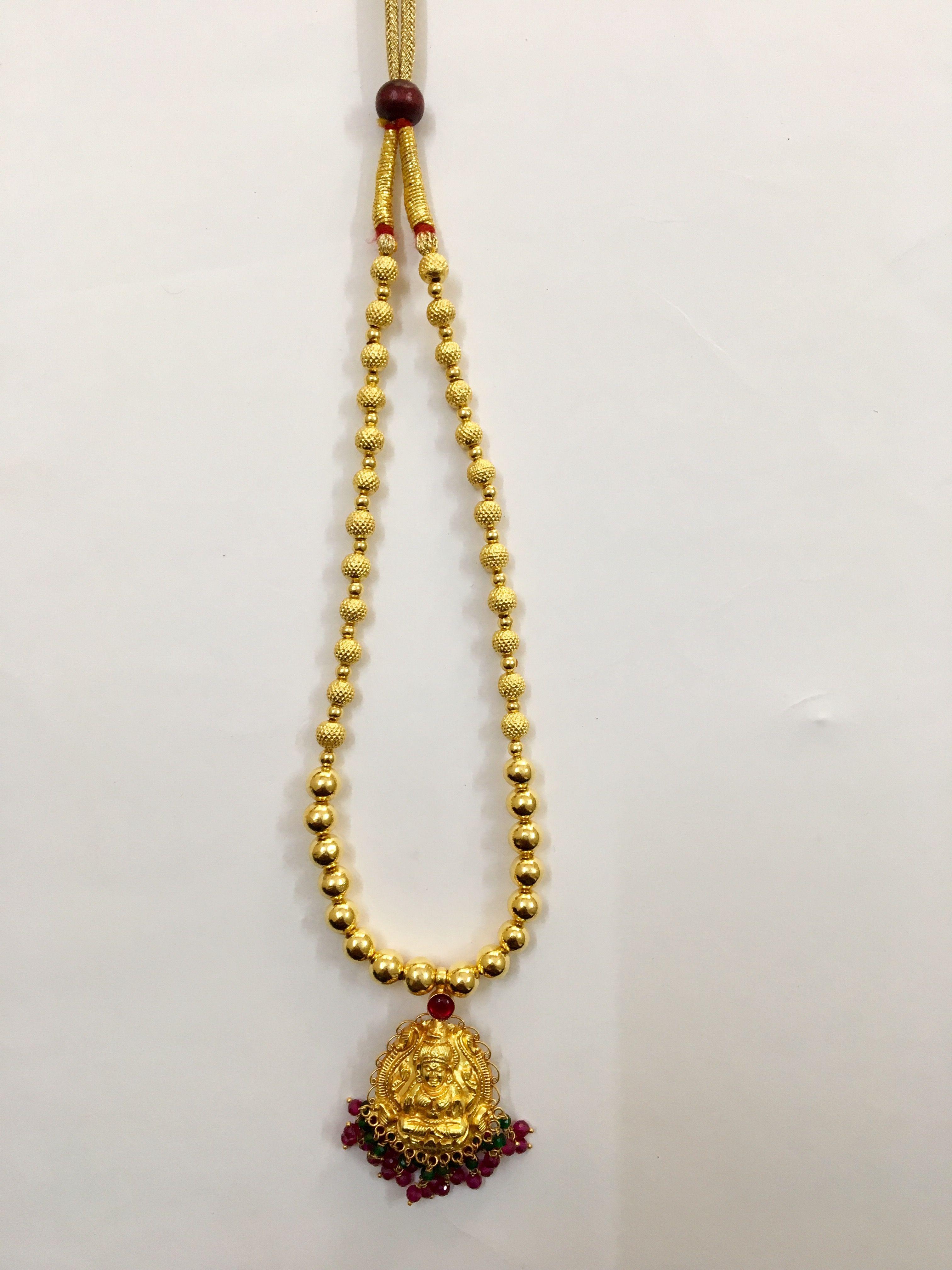 8338aab1d0b53 Shree Maya Jewellers 916 Gold Light weight Wax Beads Pendant Mala ...