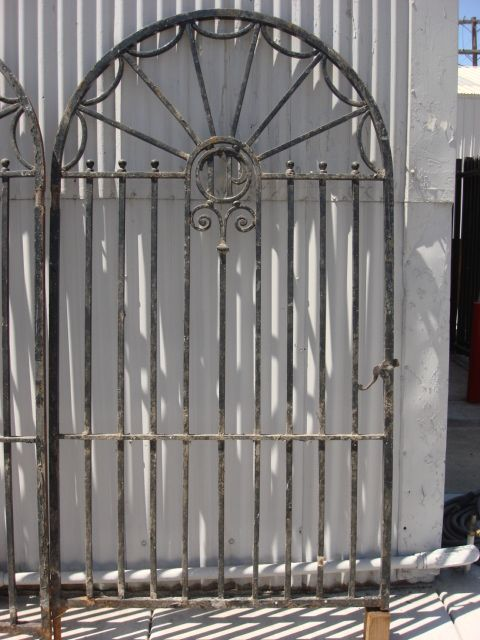 Architectural Antiques Hand Forged French Antique Iron Gate