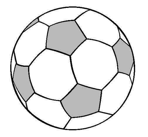 Dibujo de pelota de futbol para colorear - Imagui | Patrones ...