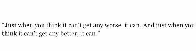 Just when u think.....