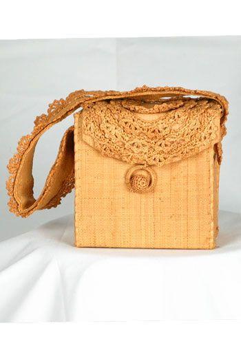 Amalfi Coast raffia handbag
