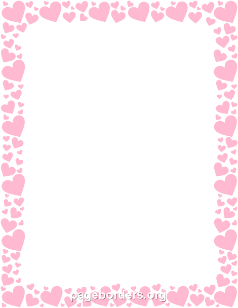 Pink Heart Border Pink Heart Heart Border Borders For Paper