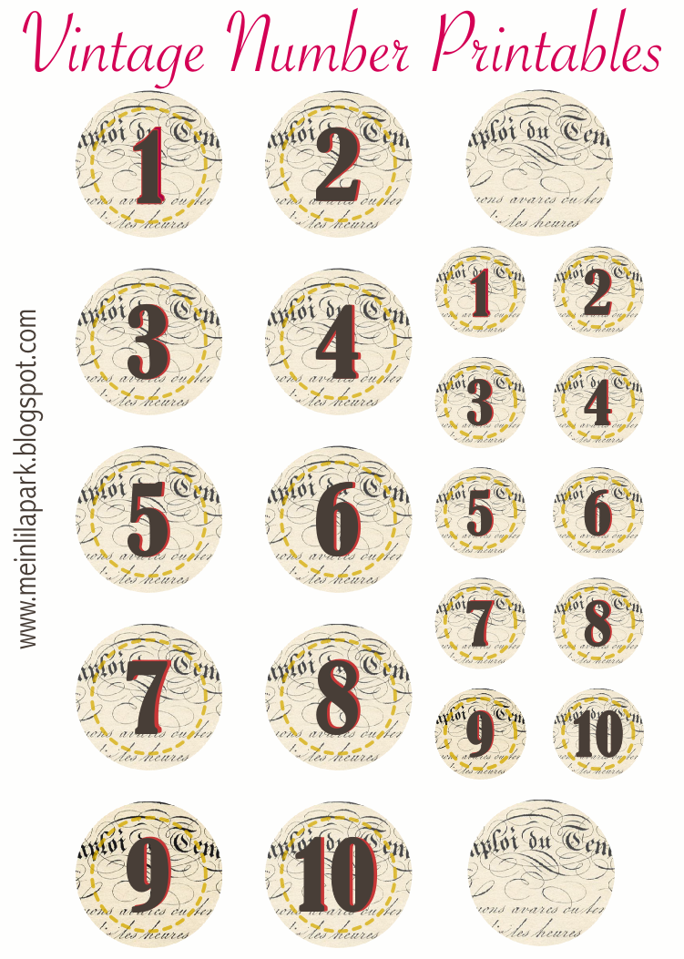 photo relating to Printable Number Tags known as No cost printable traditional quantity stickers - ausdruckbare Zahlen