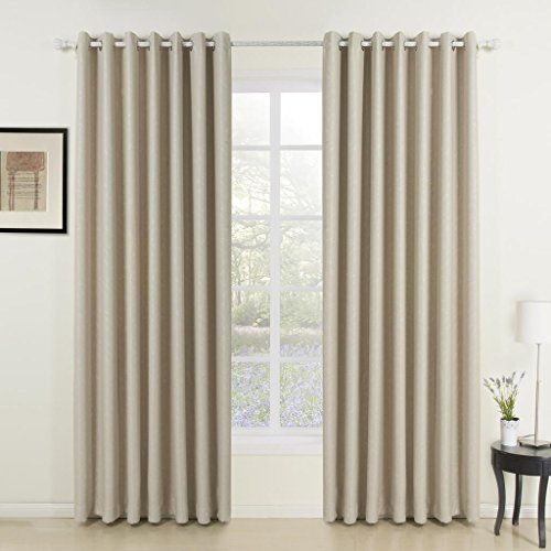TWOPAGES Classic Embossed Ivory Solid Room Darkening Grommet Top Curtains 1 Panel 84 W X 102 L Multi Size Available Custom 638496102 Inch Length More