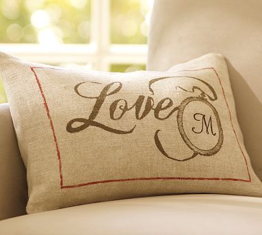 Boudoir Pillow Cover personalize with initial @ Pottery Barn