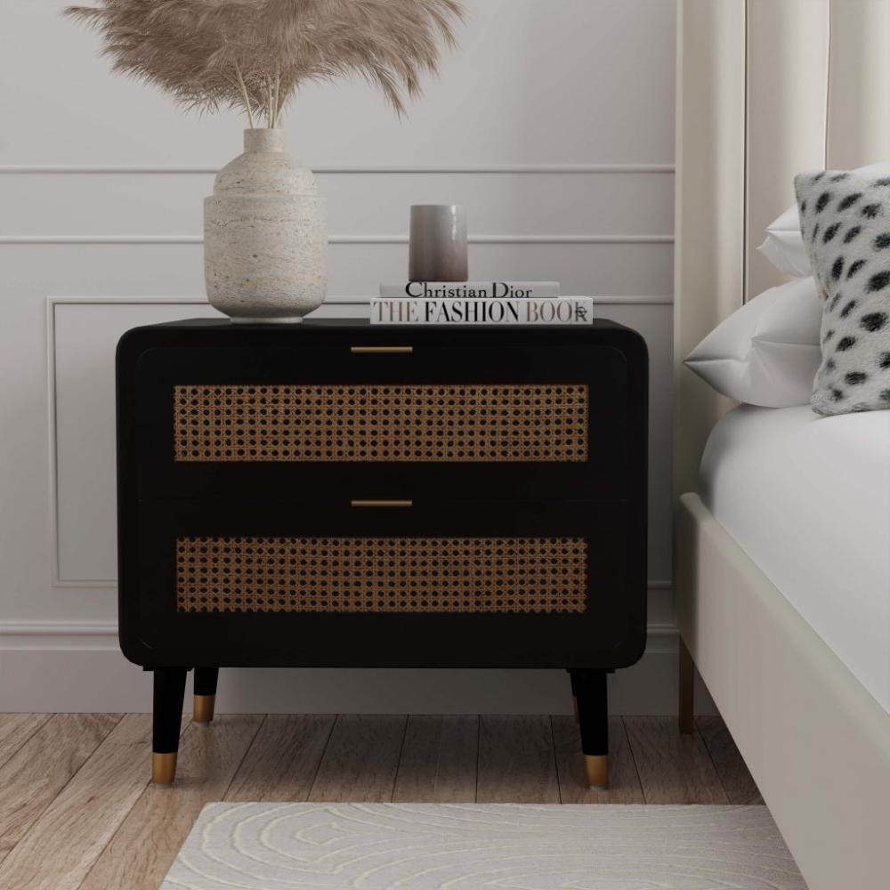 Christine Nightstand Tov Furniture Bedroom Night Stands Black Bedroom Furniture Nightstand Decor