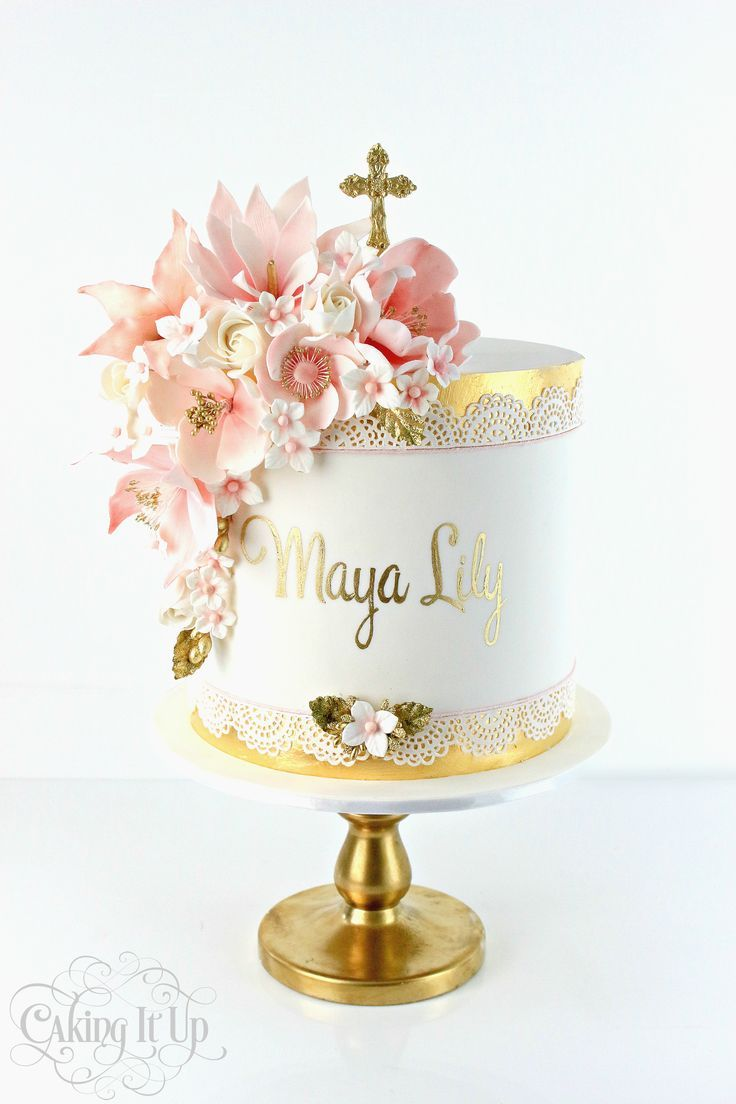 First Communion Cupcake Cakes
