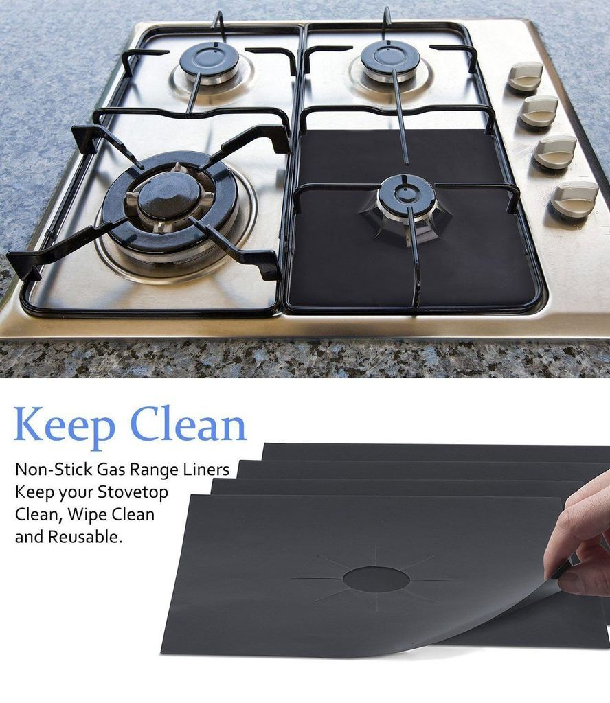 Reusable Gas Stove Protector 4 Pcs Stove Cover Stove Top Cover Gas Stove