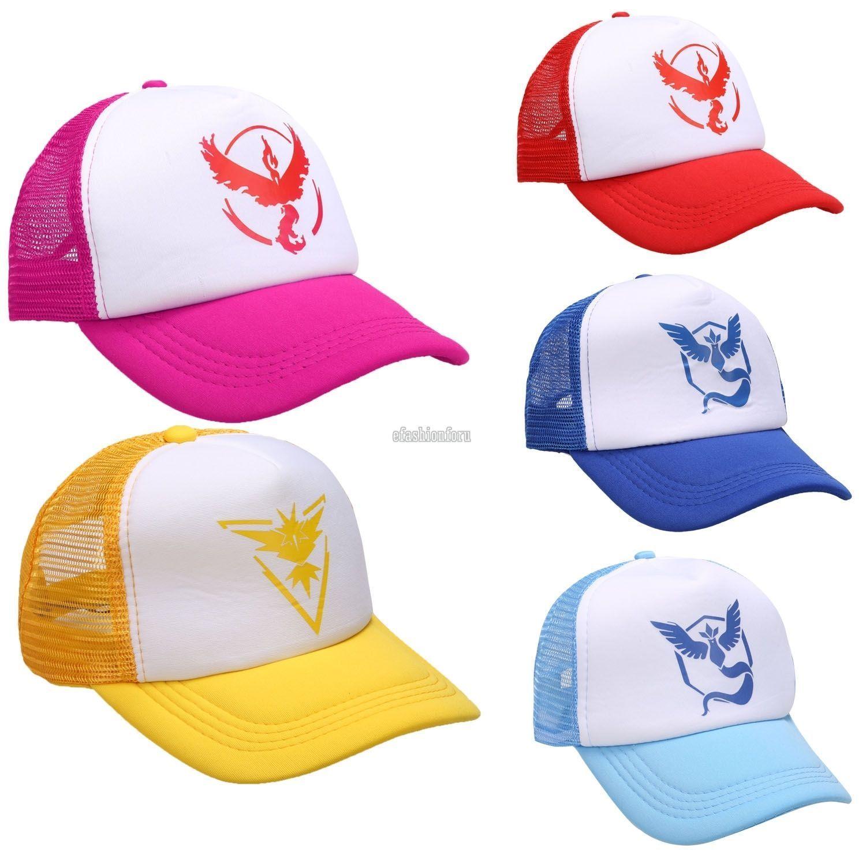 For Pokemongo Cap Hat Team Valor Team Mystic Team Instinct Pokemon Cap Hat  Effu 326bac4c24d0