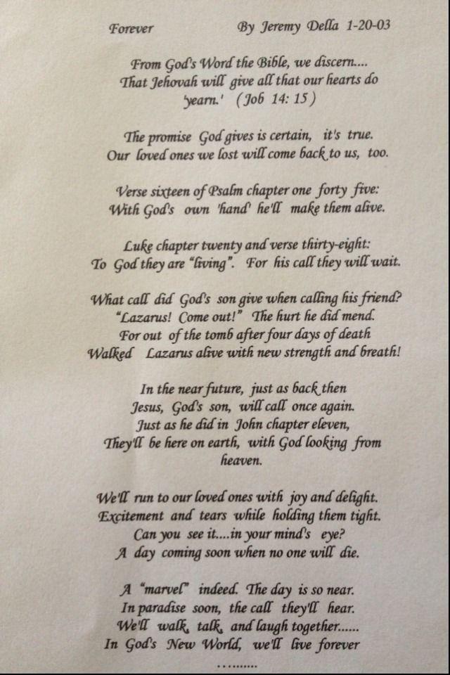 POEM ON THE RESURRECTION, By Jeremy L  Della, Jehovah's Witness | JW