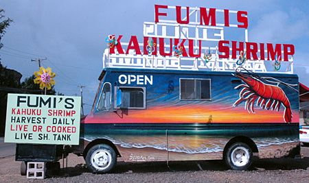 Fumis Kahuku Shrimp food truck..I would say this has to be my favorite restaurant ever!!! ;)