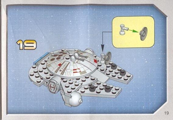 Star Wars Mini Mini Millenium Falcon Lego 4488 Instructions