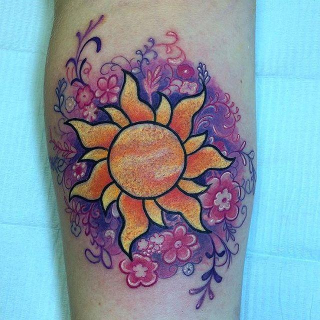 Inked Disney On Instagram Tangled Flower Done By Helenadarlingtattooist On Emma Jen Inkeddisney Tangled Tattoo Body Art Tattoos Tattoos
