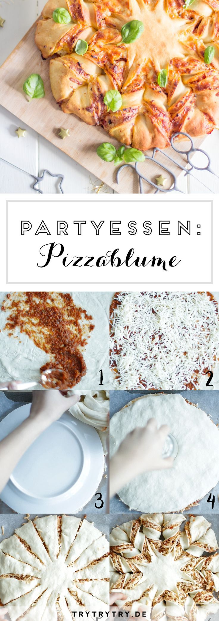 Pizzablume #appetizersforparty