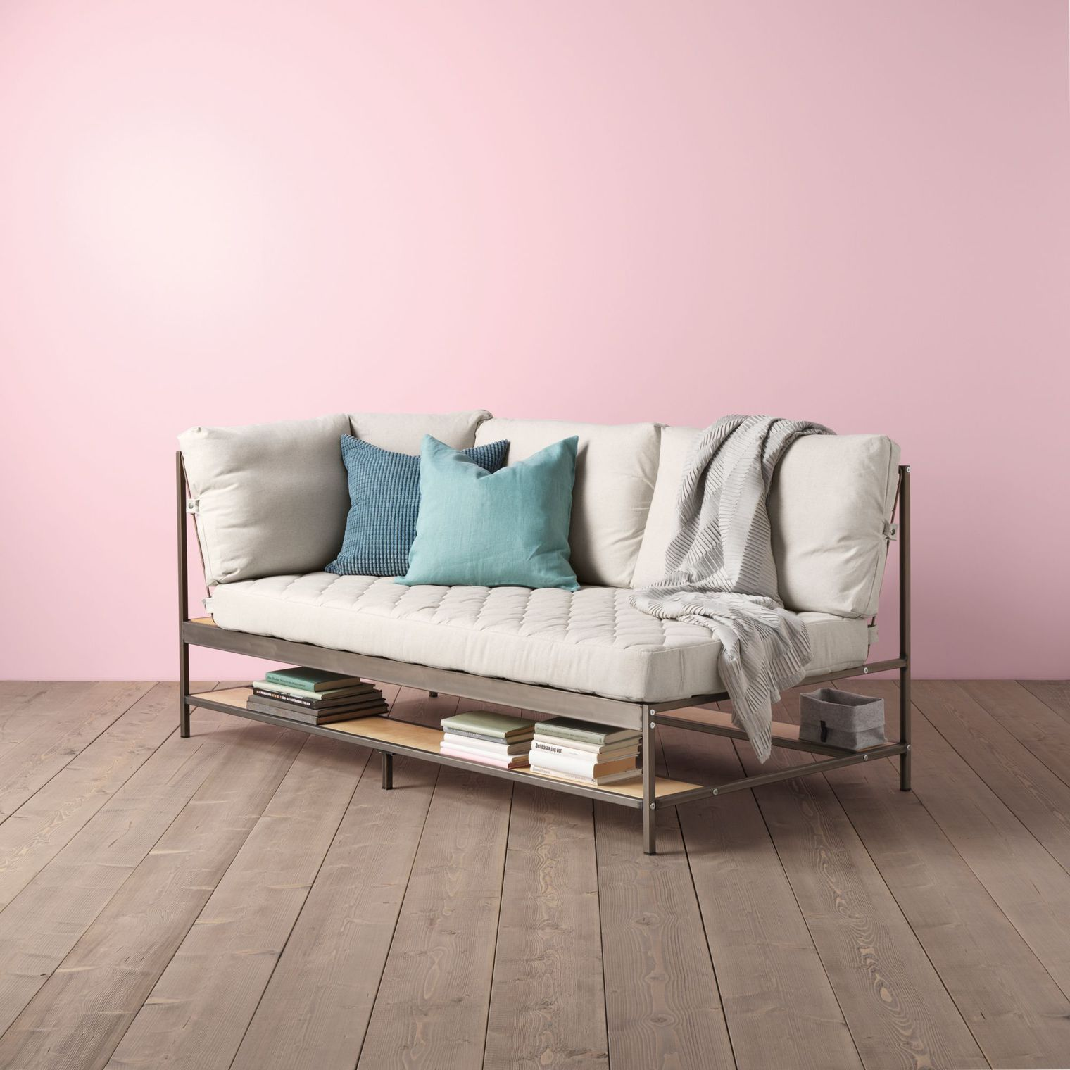 Sofa With Shelf Underneath Ekebol By Ikea Via Sweet Home On  # Ikea Paris Meuble