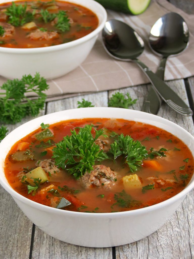 Mexican Meatball Soup #mexicancooking