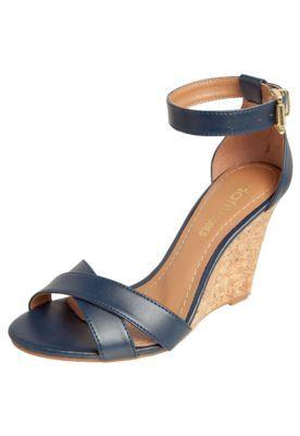 9b9098079 Sandália Anabela Dafiti Shoes Azul Marinho | ZAPATOS em 2019 | Shoes ...