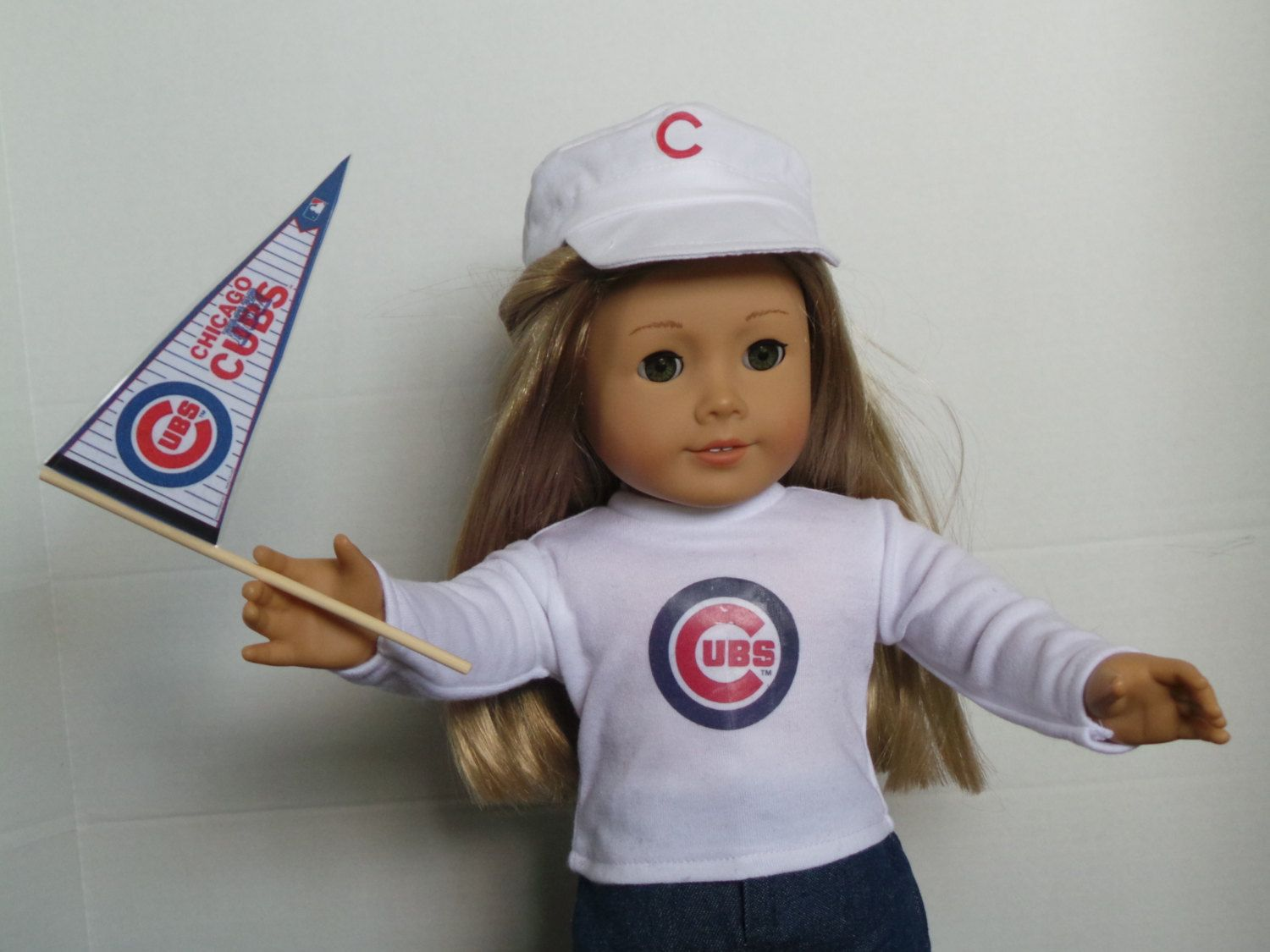 Chicago, Chicago !  American Girl Doll Shirt with Hat and Pennant !    20.00 by DollsDamselsandDames on Etsy