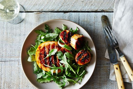 Grilled Scallops Skewers with Ruby Red Grapefruit and Chile Glaze, a recipe on Food52