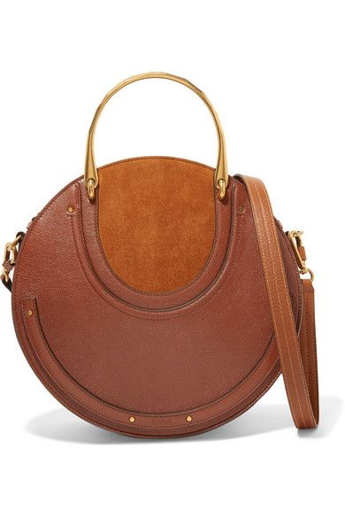 cadd6c2d5d9f Chloé - Pixie Large Suede And Textured-leather Shoulder Bag - Brick ...