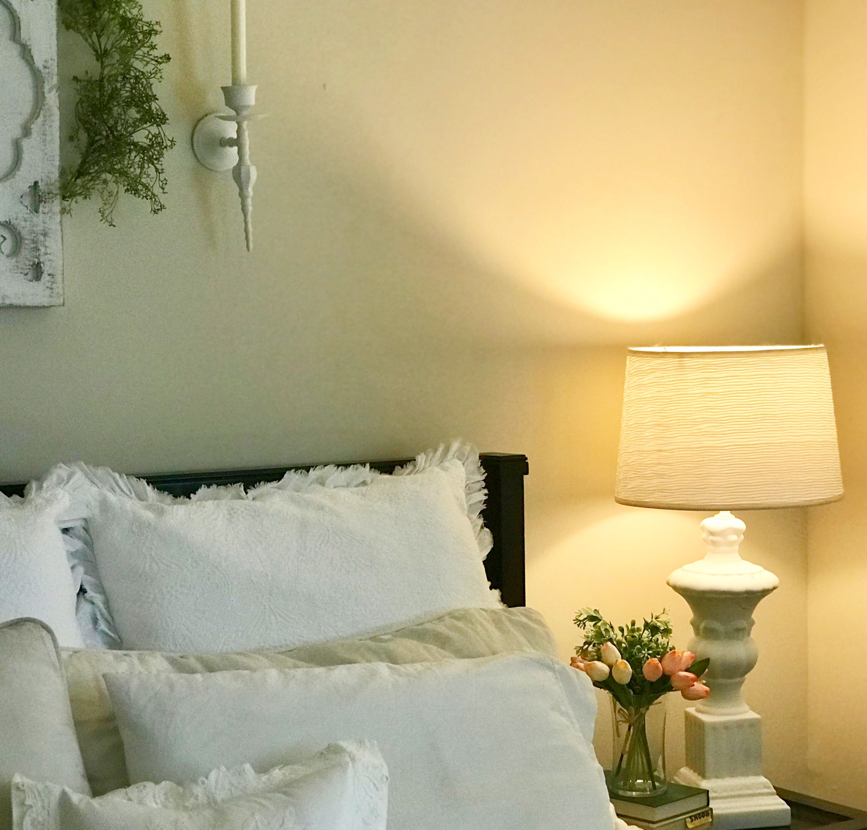 White master bedroom. Shabby chic. Simplejoys7.com | Home Decor ...