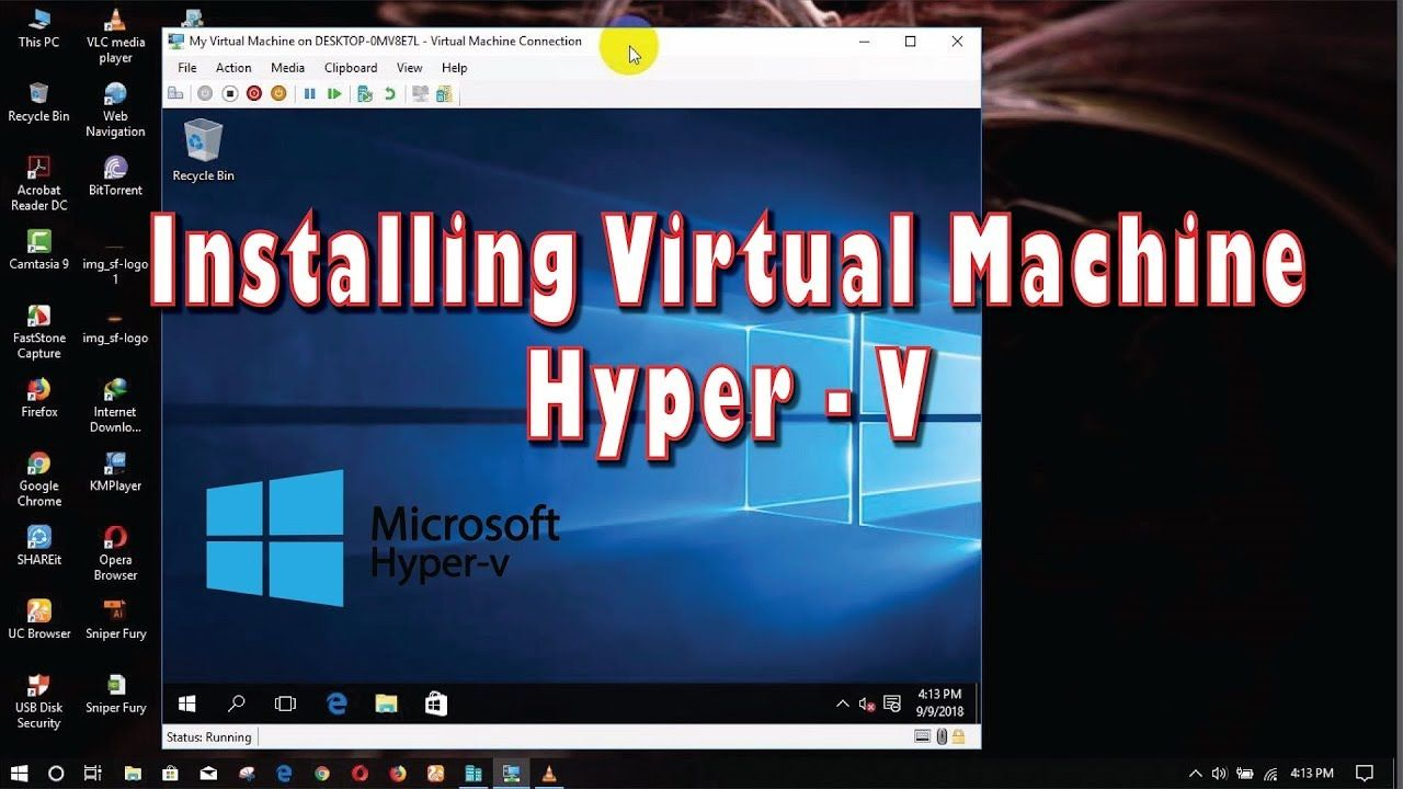 How to Install Virtual Machine | Hyper V | Pc Windows 10 | Games Video |  Computer network, Installation, Windows 10 games
