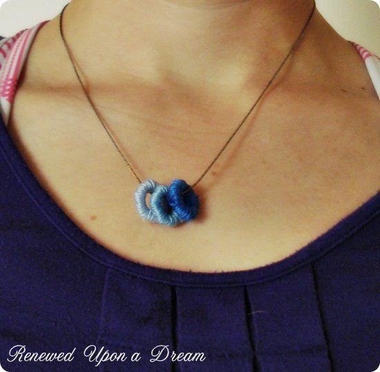 Color Block Hex Nut & Thread Necklace