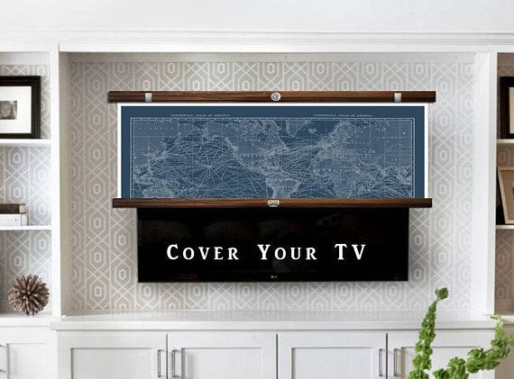 Custom City Tv Cover Paris Tv Cover How To Hide Your Tv Etsy Hidden Tv Tv Covers Wall Mounted Tv