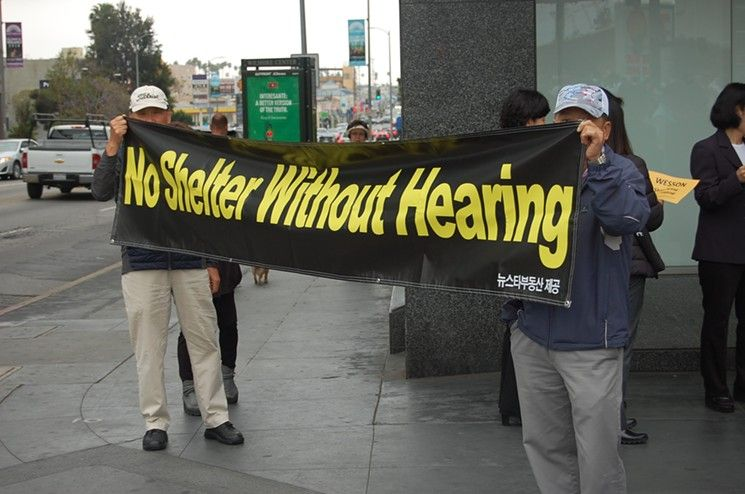 Hundreds In Koreatown Protest Homeless Shelter Proposed For City