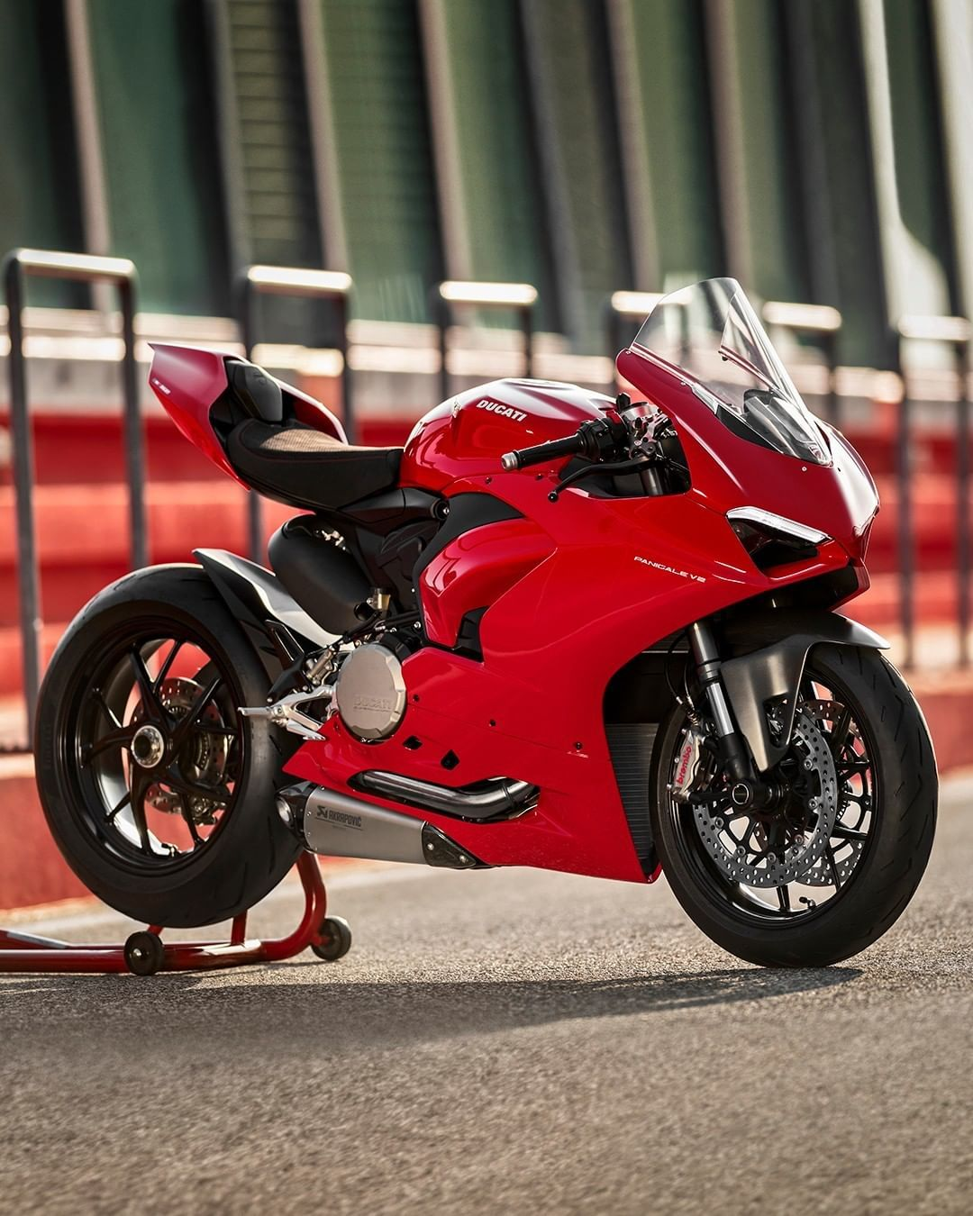 Ducati Motor Holding On Instagram Discover The Range Of Accessories Designed For The New Panigale V2 The Red Essence Ducati Motor Panigale Ducati Panigale